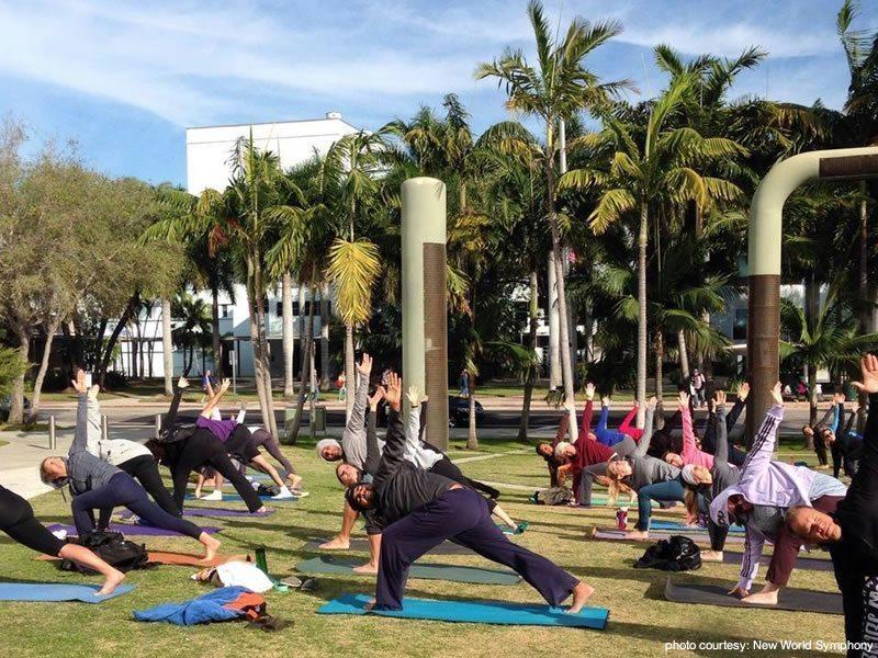 Free Yoga – At the New World Symphony & Athleta Lincoln Road