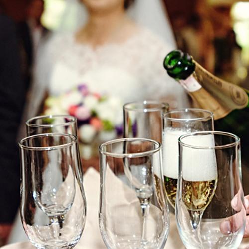 stocking wedding reception bar