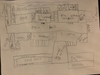A Lincoln School student's floor plan - inspired by attending an SBC meeting!