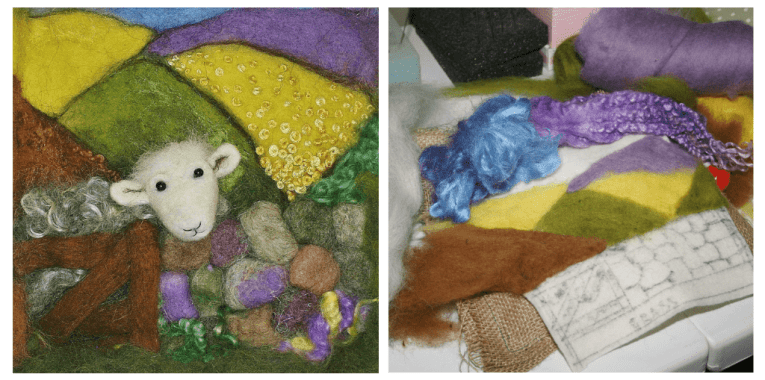 needle felted sheep picture