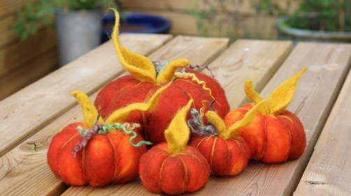 PUMPKINS OUTSIDE TABLE