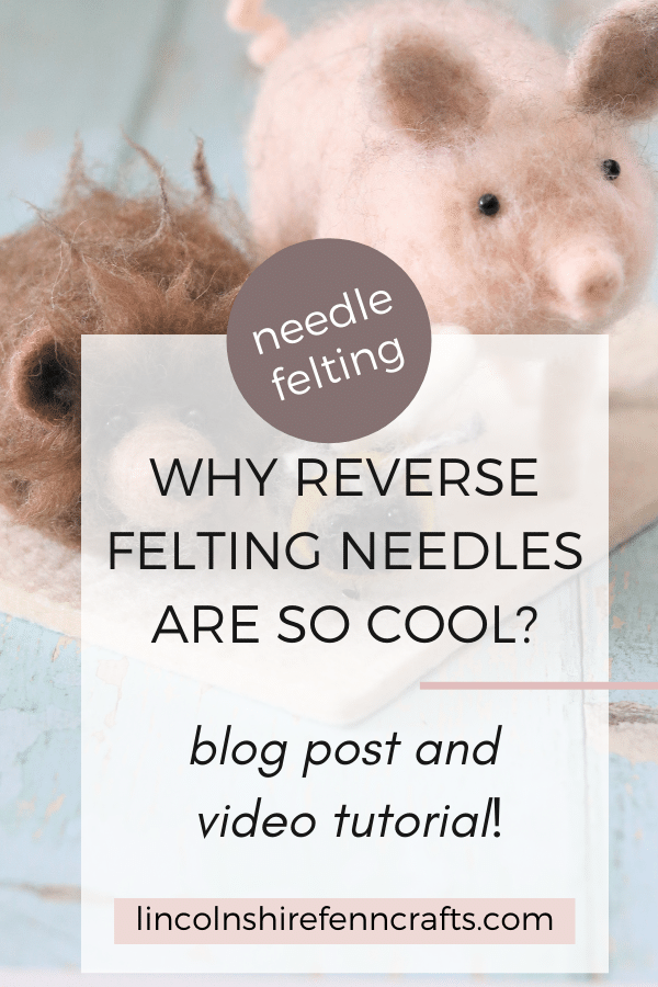 I was a couple of years into needle felting before I tried a reverse felting needle and now I wouldn't be without it. The special effects you can create are endless and super cool, taking your needle felting to a different level. via @lincolnshirefen