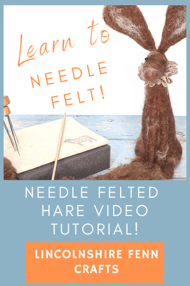 Improve Your Needle Felting Techniques. This is such a great project that is perfect if you want to build on your existing needle felting skills. A gret DIY craft project and free craft tutorial to make a needle felted hare. via @lincolnshirefen