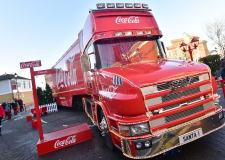 Coca-Cola Christmas truck heading to Gainsborough