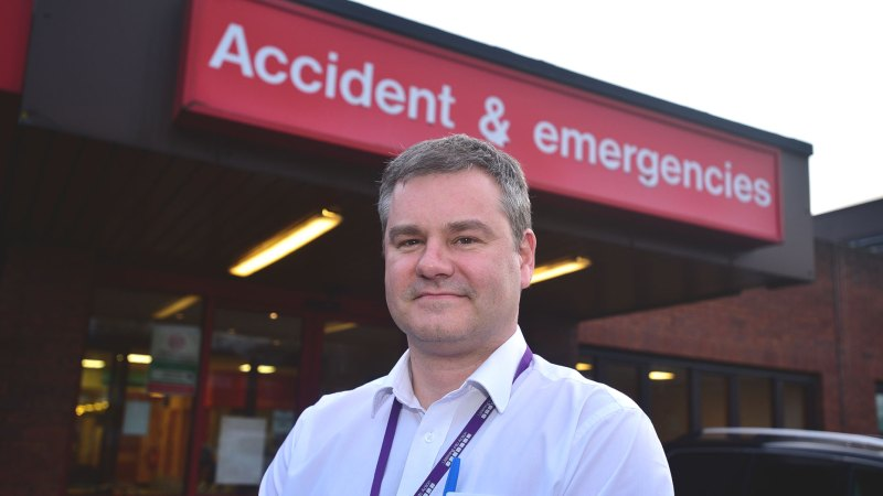 Andrew Prydderch deputy director of urgent care at United Lincolnshire Hospitals NHS Trust. Photo: Steve Smailes for The Lincolnite