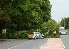 This is where trees have fallen down on Lincolnshire roads this morning