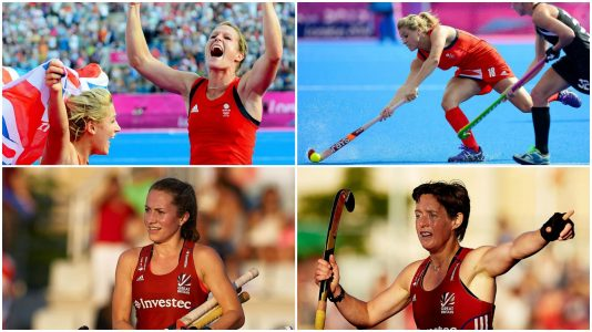 Proud Lincolnshire hockey heroines: Crista Cullen, Georgie Twigg, Shona McCallin and Hannah Macleod. Photo: Team GB