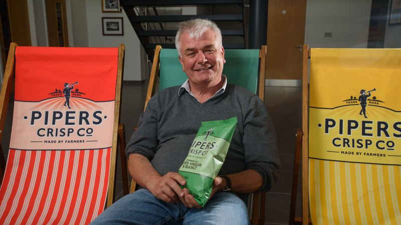 Alex Albone, founder of Pipers Crisps. Photo Steve Smailes for Lincolnshire Reporter