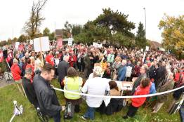 Six thousand people attended the protest on October 29. Photo: Steve Smailes/Lincolnshire Reporter