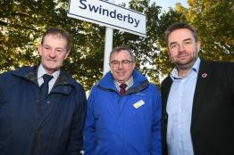 Improvements to Swinderby Railway Station were unveiled on November 7. Photo: Steve Smailes for Lincolnshire Reporter