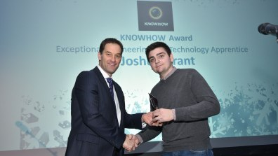 Winner of Exceptional Engineering and Technology Apprentice, Joshua Grant. Photo: Steve Smailes for Lincolnshire Reporter