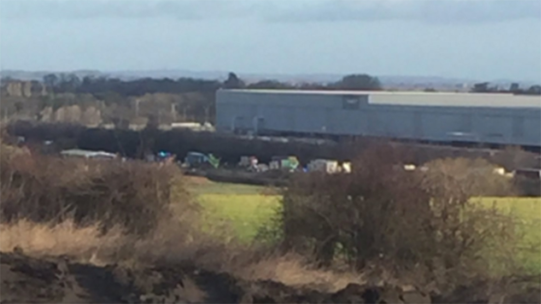 Rescue operation: Pictures show scale of A1 crash near Newark