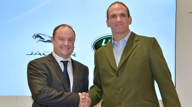 Ben Duckworth, Managing Director (left) with Martin Johnson CBE