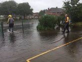 Heavy rain brings flash flooding in Skegness
