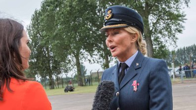 Carol Vorderman at RAF Coningsby. Photo: Sean Strange for Lincolnshire Reporter