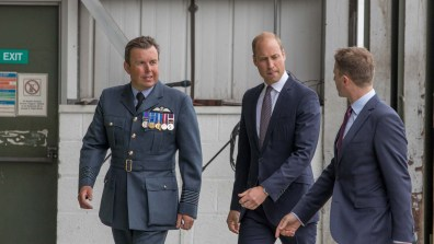 Prince William at RAF Coningsby on July 11. Photo: Sean Strange for Lincolnshire Reporter