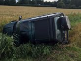 Driver arrested after crashing into ditch following police chase