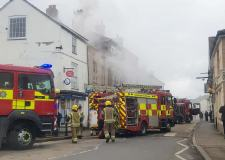 Crews tackle fire on Wainfleet High Street