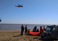 Injured man airlifted from Cleethorpes beach
