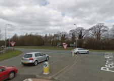A17 reopened after bus and tractor crash