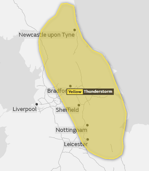 Thunderstorm warning upgraded to amber for East Anglia