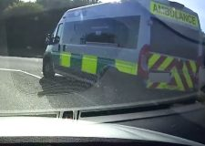 'Badly driven ambulance' caught on dashcam