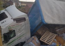 """I watched a lorry crash into my garden"""