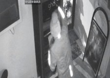 CCTV captures thief smashing into salon