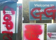 Witness appeal over Boston woods graffiti