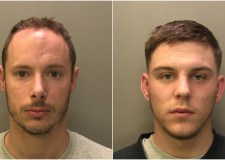 Two masked burglars jailed for raid on shop