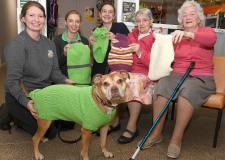 Care home residents knit winter coats for abandoned Scunthorpe dogs