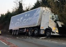 Lorry crash causing long delays on the A17
