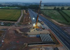 Grantham southern bypass bridge beams now in place