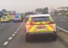 Man dies after crash closes A1 near Grantham