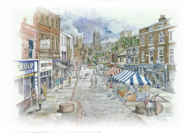 Concept revealed for revamped Lincoln High Street