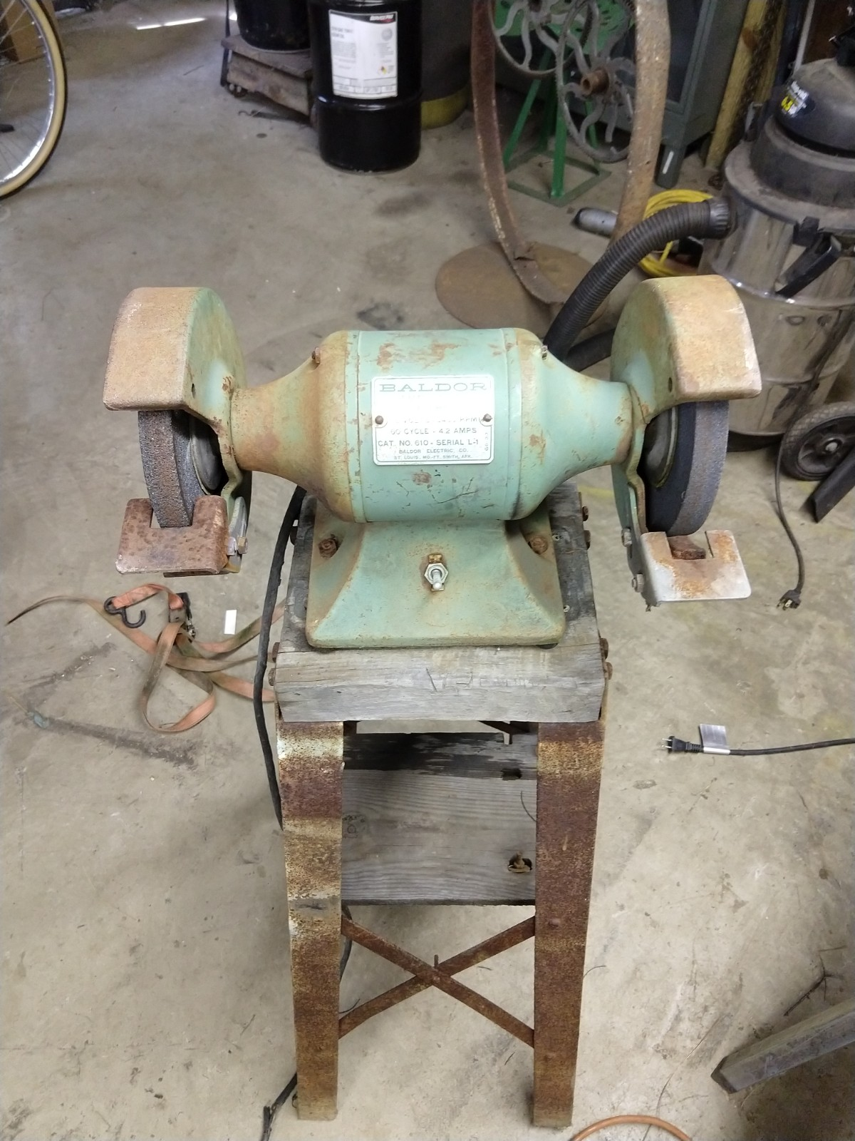 Brilliant Baldor 1 3 Hp Bench Grinder Cleanup Lincoln Smithy Cjindustries Chair Design For Home Cjindustriesco