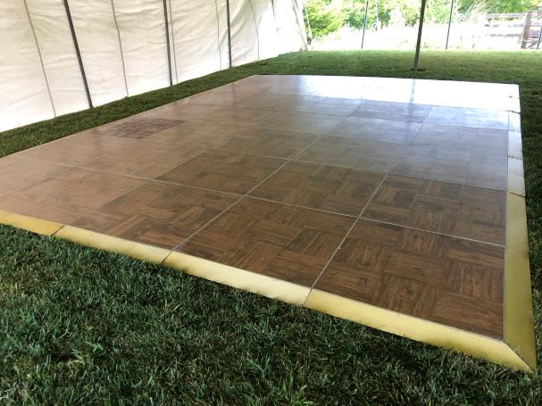 Wedding tent with dance floor Lincoln NE