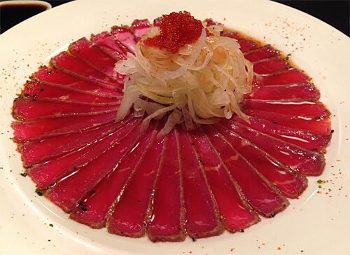 Beef tataki at Kenko.