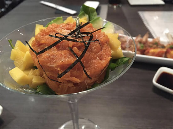 Spicy Tuna Cocktail Salad (with avocado and mango) - $9