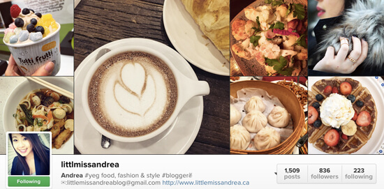 Edmonton Instagram Users - littlmissandrea