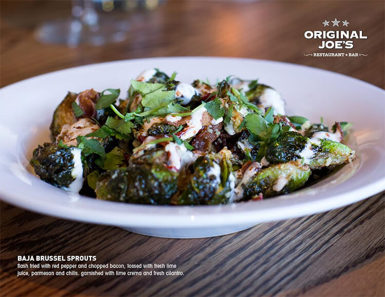 Brussel Sprouts in Original Joe's new Summer Fresh Menu (2015)