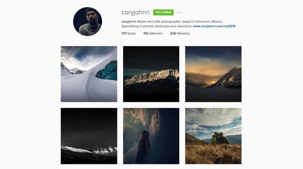 Top Edmonton Instagram Users - coryjohnn - Social Media