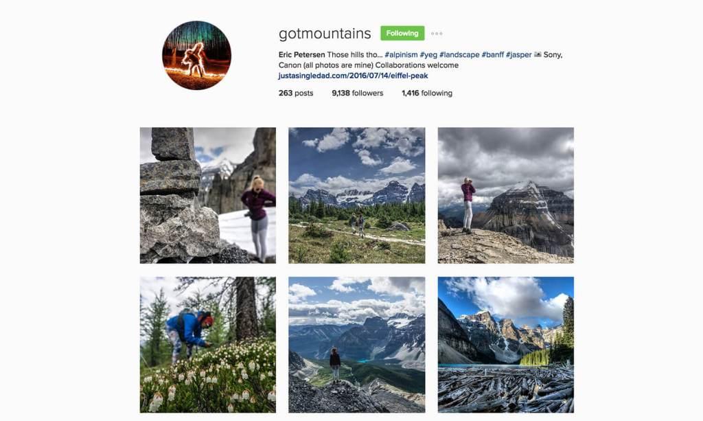 Edmonton Instagram Users - gotmountains - Social Media