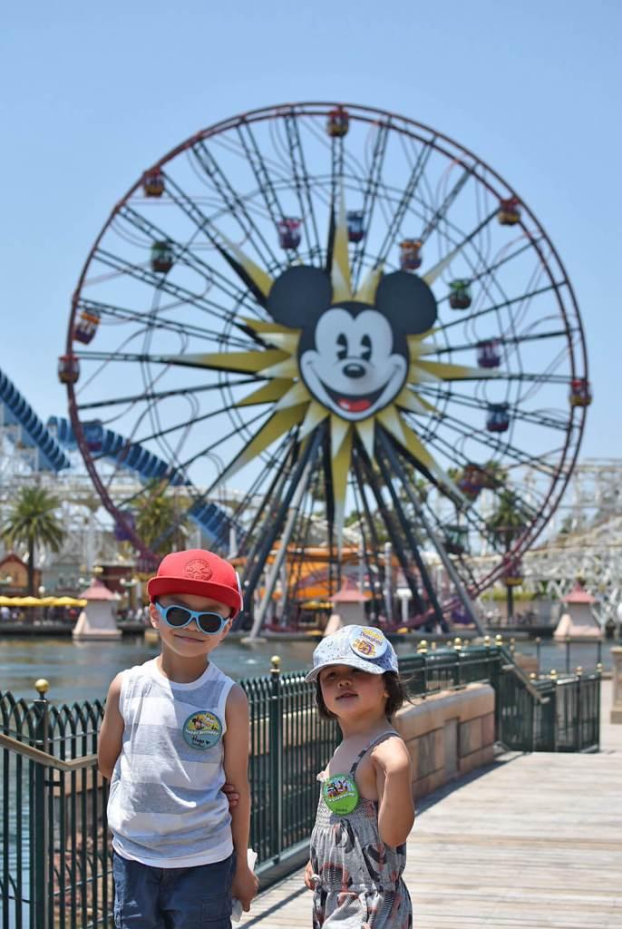 Disneyland California Adventure - Mickeys Fun Wheel Ferris Wheel - Amusement Park Rides
