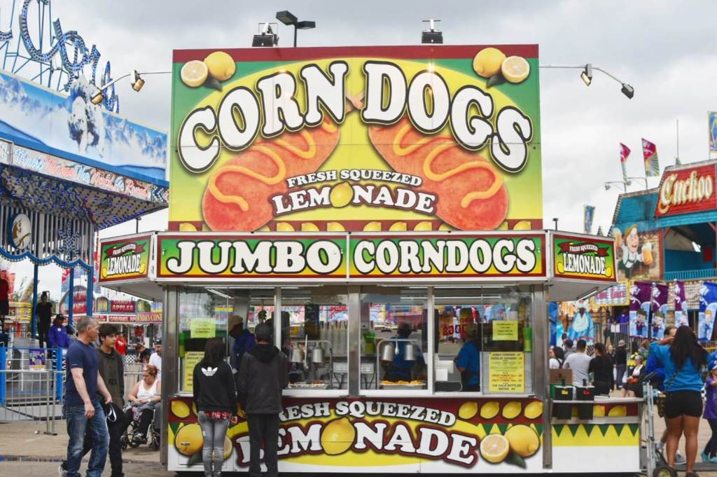 K-Days Carnival Midway Concession Food Stands Edmonton Summer