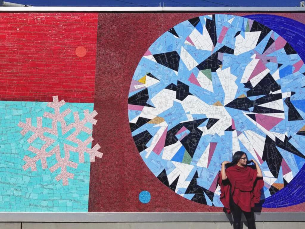 Instagrammable Walls of Calgary - East Village Riverwalk