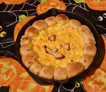 Halloween Food - Pumpkin Buffalo Cheese Dip