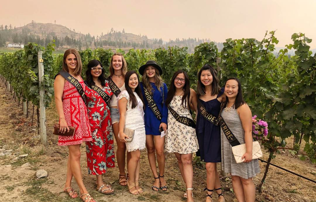 Kelowna British Columbia Bachelorette Food and Drink Crawl - Explore Kelowna Wine Tour