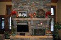 Christmas Fireplace Mantel | Celebrating Style at HOME ...