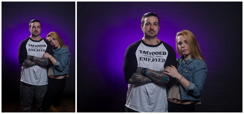 tattooed couple, off camera flash, get lit workshop